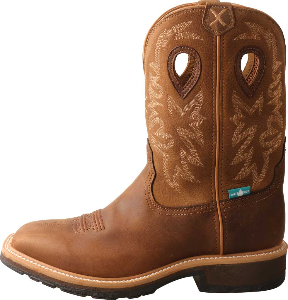 Men's Twisted X MCWW002 Cowboy Work Boot, Brown/Light Brown Leather, large, image 3