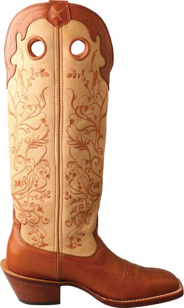 "Women's Twisted X WBKL008 16"" Buckaroo Knee High Cowgirl Boot, Saddle/Hazel Full Grain Leather, large, image 2"