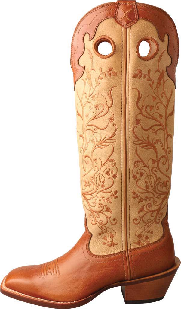 "Women's Twisted X WBKL008 16"" Buckaroo Knee High Cowgirl Boot, Saddle/Hazel Full Grain Leather, large, image 3"
