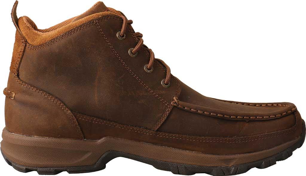 "Men's Twisted X MHK0011 4"" Moc Toe Hiker Boot, Distressed Saddle Full Grain Leather, large, image 2"