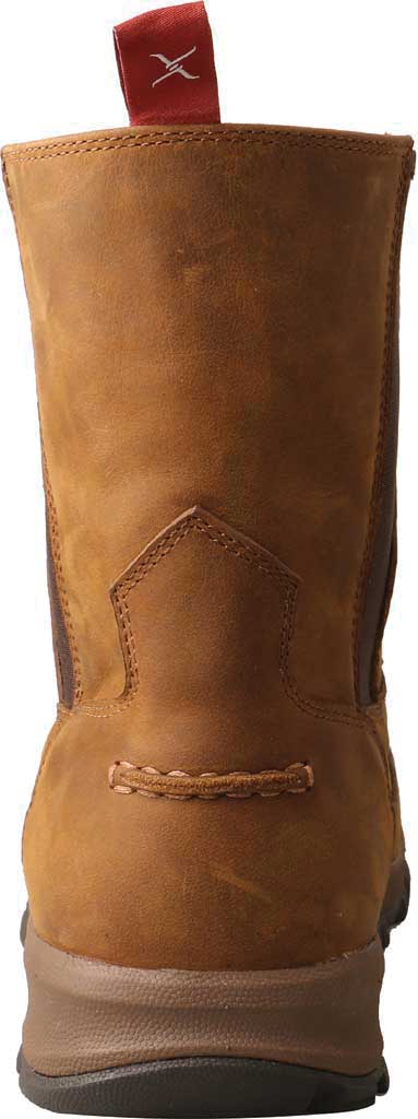 "Men's Twisted X MHKB003 8"" Moc Toe Pull On Hiker Boot, Distressed Saddle Full Grain Leather, large, image 4"