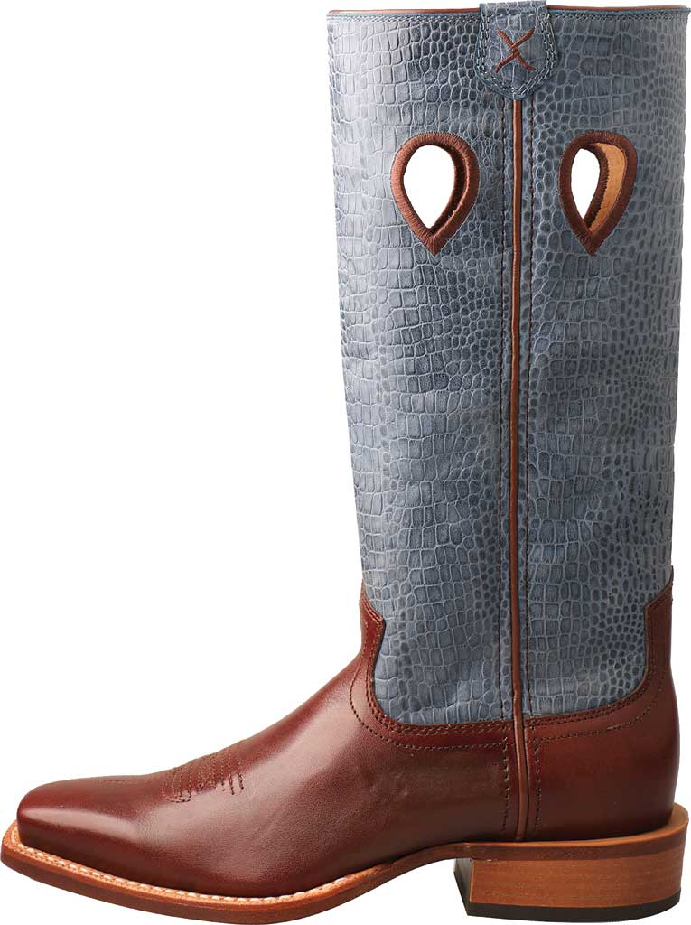 """Women's Twisted X WRSL006 13"""" Ruff Stock Work Cowgirl Boot, Cafe/Sky Blue Full Grain Leather, large, image 3"""