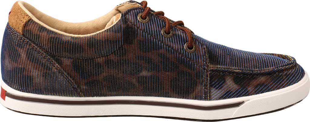 Women's Twisted X WCA0023 Low Cut Moc Toe Sneaker, Shiny Leopard/Brown Fabric, large, image 2