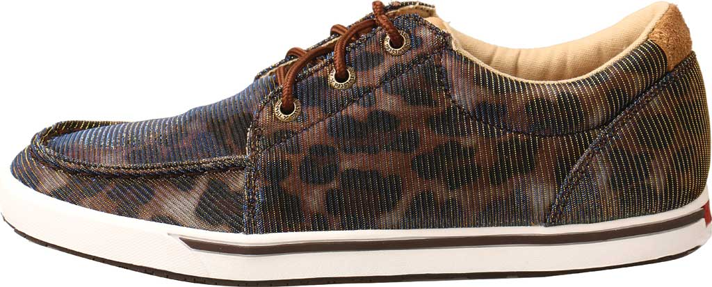 Women's Twisted X WCA0023 Low Cut Moc Toe Sneaker, Shiny Leopard/Brown Fabric, large, image 3