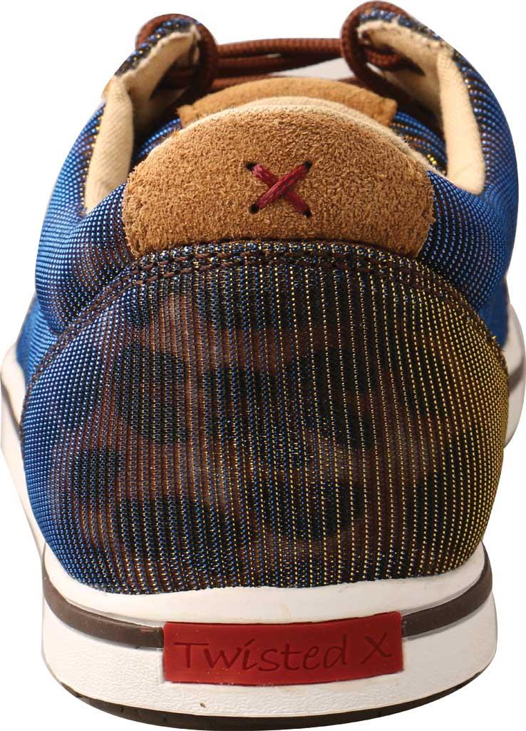 Women's Twisted X WCA0023 Low Cut Moc Toe Sneaker, Shiny Leopard/Brown Fabric, large, image 4