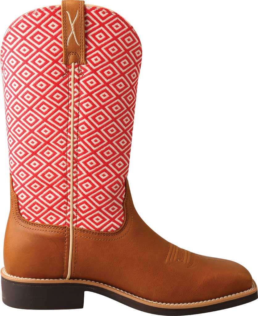"""Women's Twisted X WTH0018 11"""" Top Hand Cowgirl Boot, Camel/Eco Full Grain Leather/Eco Fabric, large, image 2"""