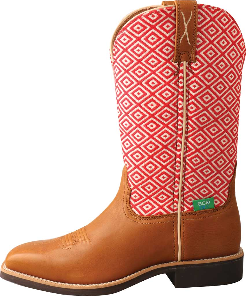 """Women's Twisted X WTH0018 11"""" Top Hand Cowgirl Boot, Camel/Eco Full Grain Leather/Eco Fabric, large, image 3"""
