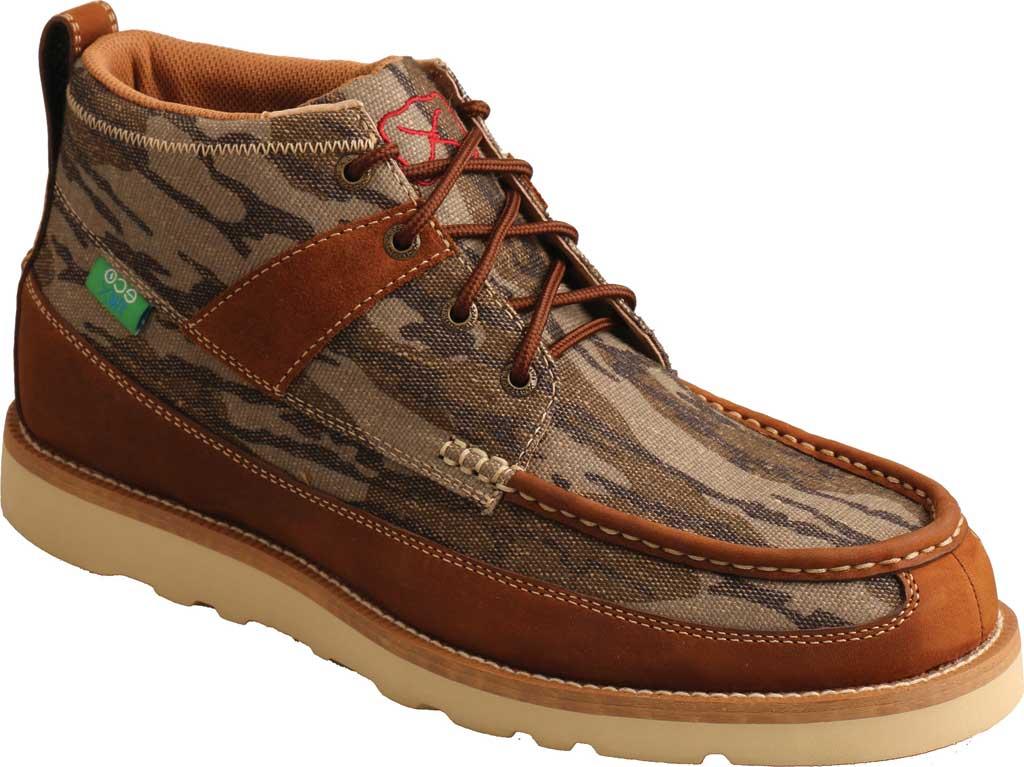 "Men's Twisted X MCA0034 Mossy Oak Casual 4"" Moc Toe Work Boot, Camo/Oiled Saddle Eco Tweed/Full Grain Leather, large, image 1"