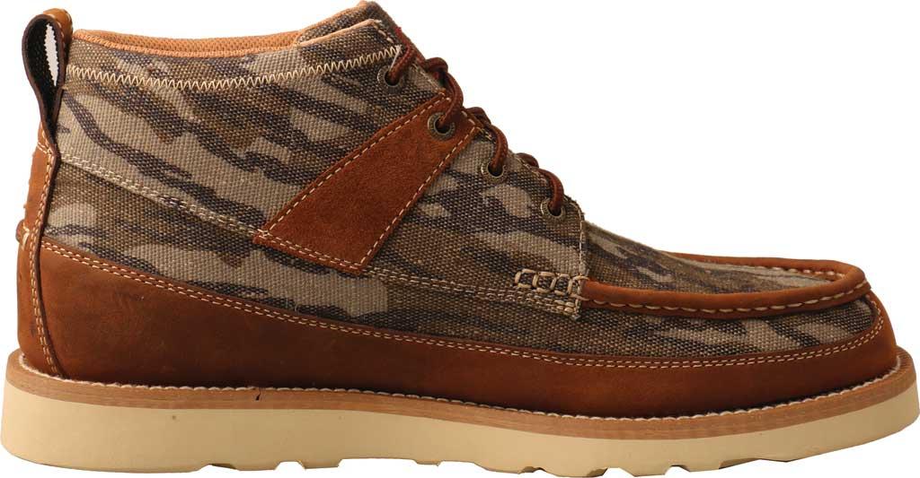 "Men's Twisted X MCA0034 Mossy Oak Casual 4"" Moc Toe Work Boot, Camo/Oiled Saddle Eco Tweed/Full Grain Leather, large, image 2"