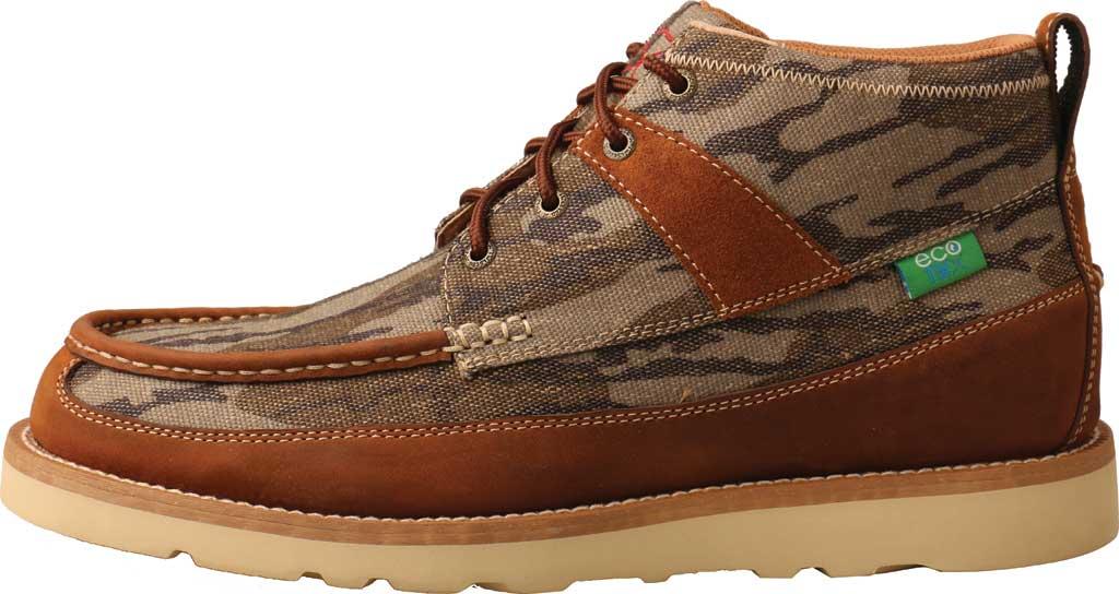 "Men's Twisted X MCA0034 Mossy Oak Casual 4"" Moc Toe Work Boot, Camo/Oiled Saddle Eco Tweed/Full Grain Leather, large, image 3"
