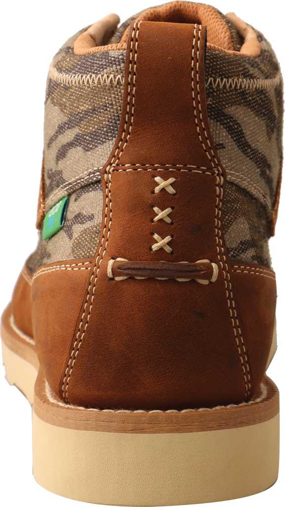 "Men's Twisted X MCA0034 Mossy Oak Casual 4"" Moc Toe Work Boot, Camo/Oiled Saddle Eco Tweed/Full Grain Leather, large, image 4"