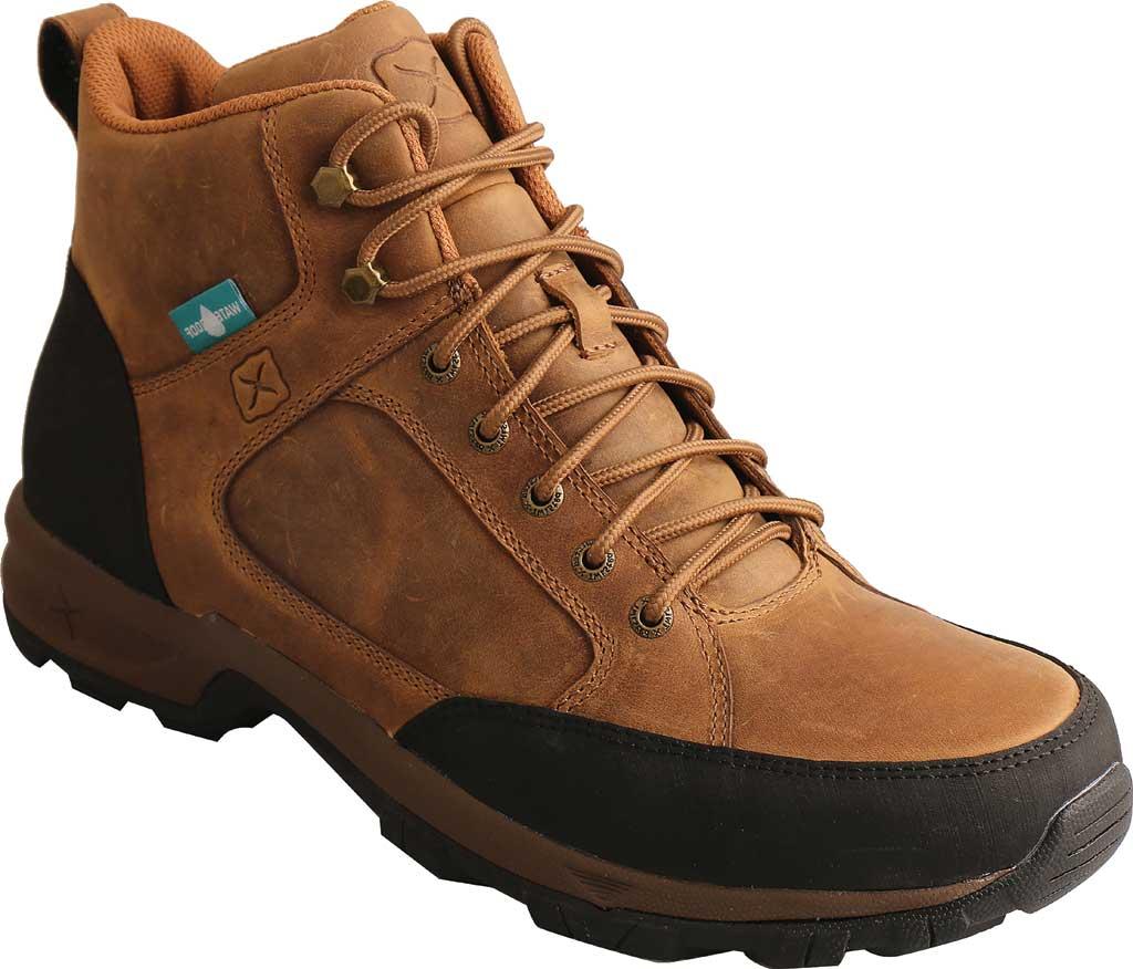 "Men's Twisted X MHKW006 6"" Waterproof Hiker Boot, Tan Full Grain Leather, large, image 1"