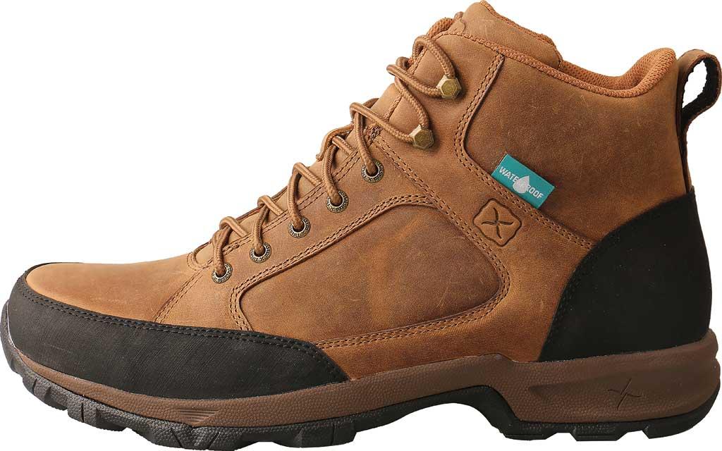 "Men's Twisted X MHKW006 6"" Waterproof Hiker Boot, Tan Full Grain Leather, large, image 3"