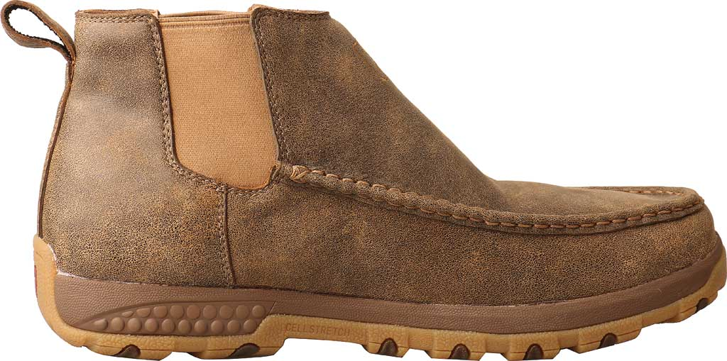 """Men's Twisted X MXCG001 4"""" Double Gore Driving Moc, Bomber Full Grain Leather, large, image 2"""