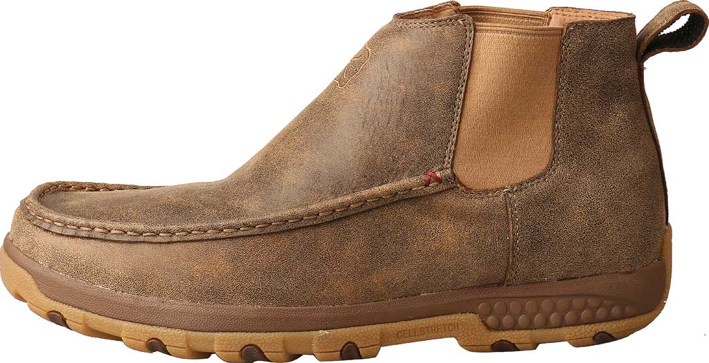 """Men's Twisted X MXCG001 4"""" Double Gore Driving Moc, Bomber Full Grain Leather, large, image 3"""