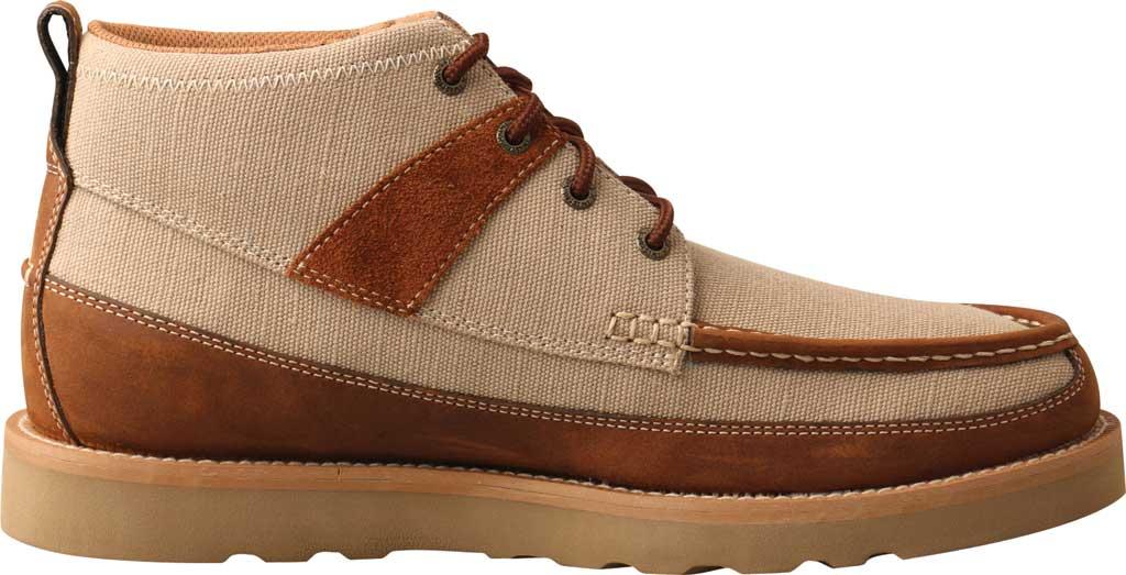 "Men's Twisted X MCA0031 4"" Moc Toe Boot, Khaki/Oiled Saddle Eco Fabric/Full Grain Leather, large, image 2"