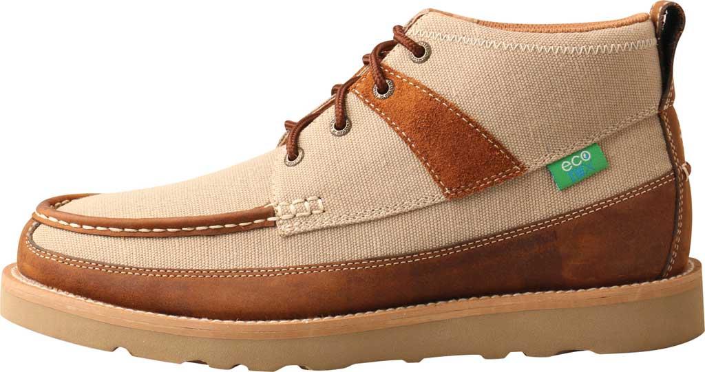 "Men's Twisted X MCA0031 4"" Moc Toe Boot, Khaki/Oiled Saddle Eco Fabric/Full Grain Leather, large, image 3"