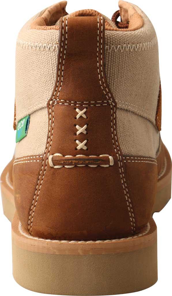 "Men's Twisted X MCA0031 4"" Moc Toe Boot, Khaki/Oiled Saddle Eco Fabric/Full Grain Leather, large, image 4"