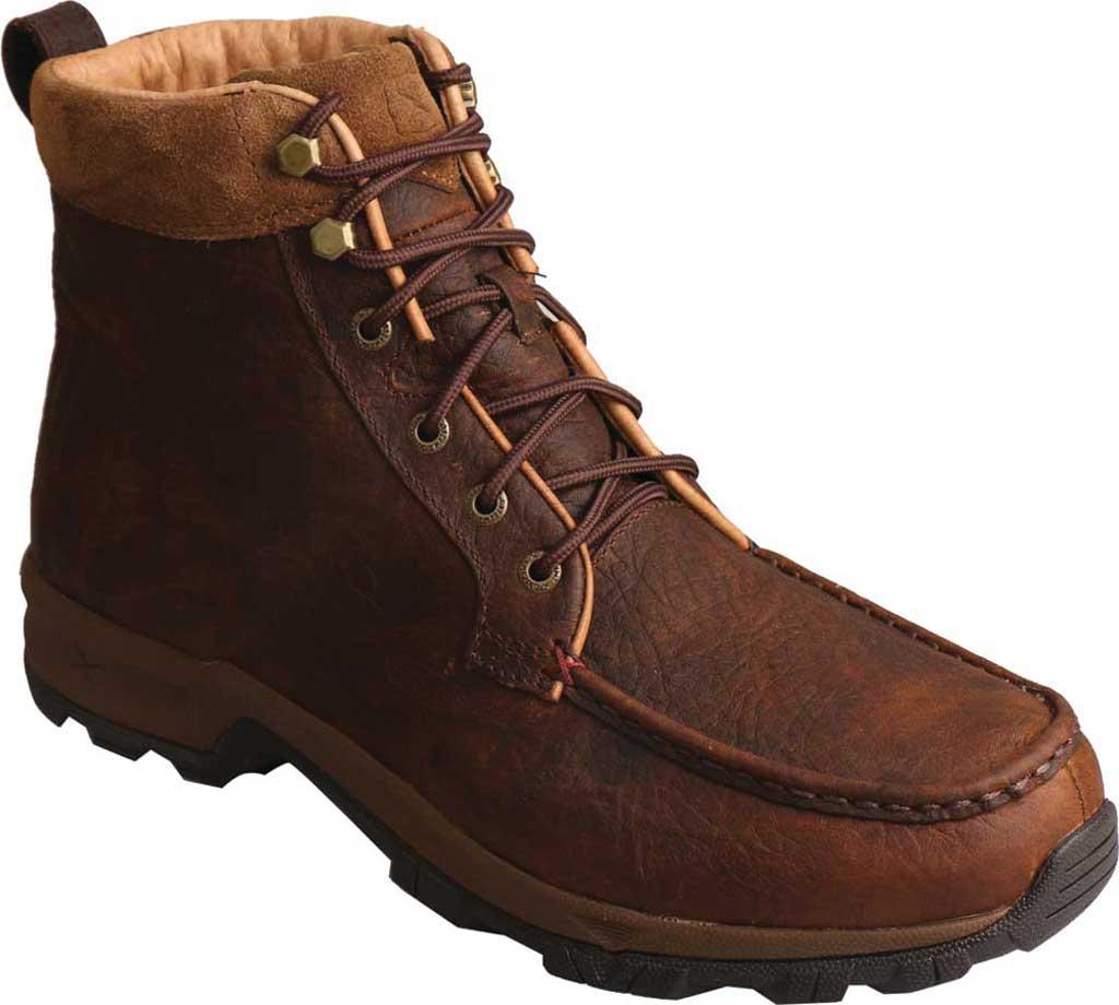 "Men's Twisted X MHKW004 6"" Moc Toe Waterproof Hiker Boot, Dark Brown Full Grain Leather, large, image 1"
