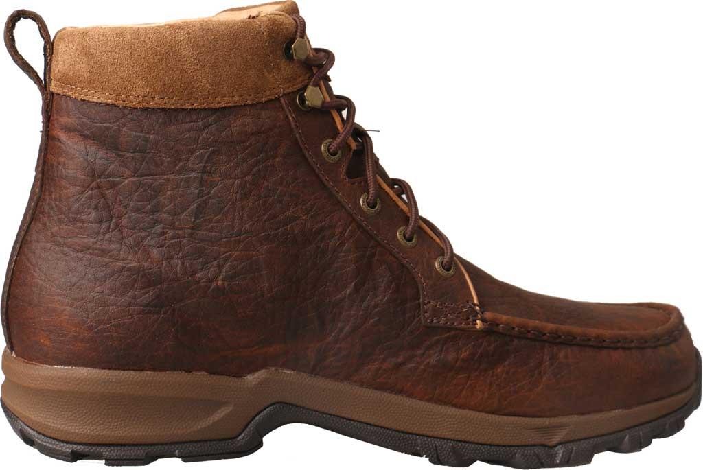 "Men's Twisted X MHKW004 6"" Moc Toe Waterproof Hiker Boot, Dark Brown Full Grain Leather, large, image 2"