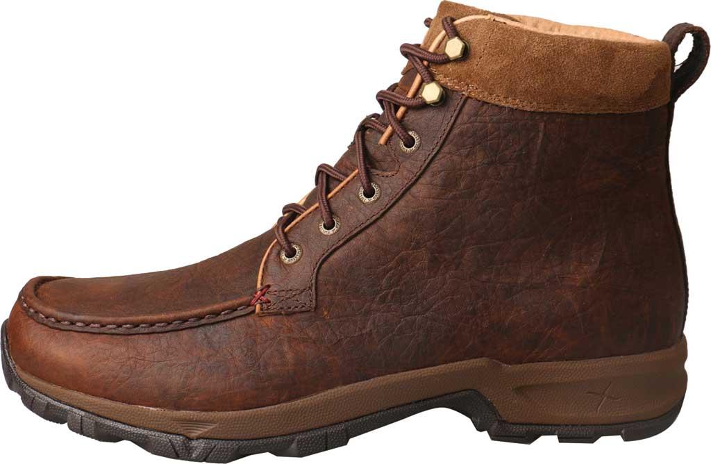"Men's Twisted X MHKW004 6"" Moc Toe Waterproof Hiker Boot, Dark Brown Full Grain Leather, large, image 3"