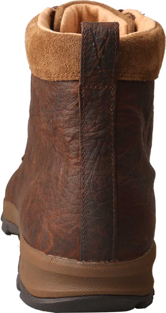 "Men's Twisted X MHKW004 6"" Moc Toe Waterproof Hiker Boot, Dark Brown Full Grain Leather, large, image 4"