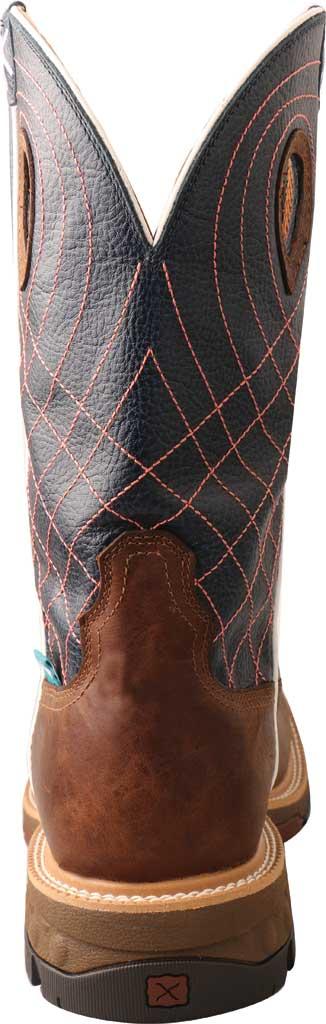 "Men's Twisted X MXBAW01 12"" Alloy Toe Western Waterproof Work Boot, Mocha/Navy Full Grain Leather, large, image 4"