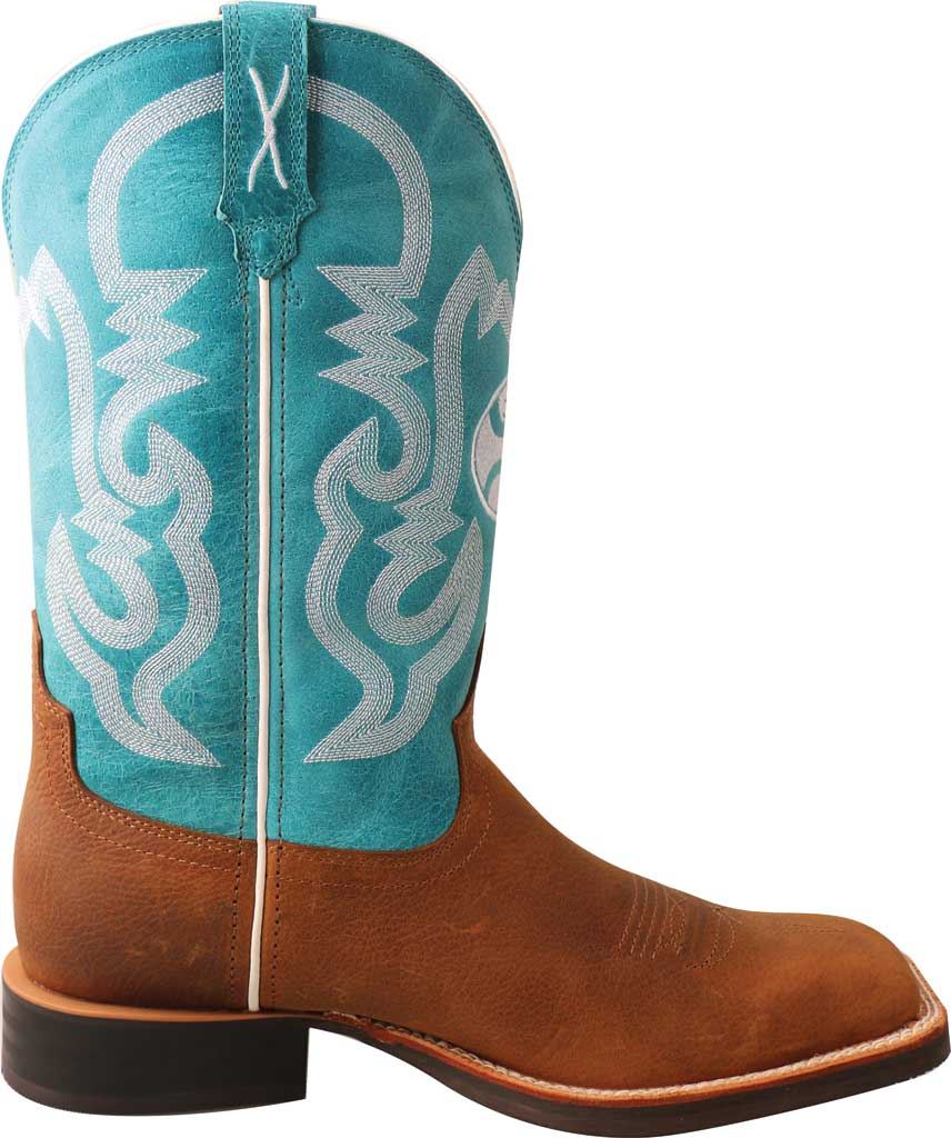 """Men's Twisted X MHY0032 12"""" Hooey Cowboy Boot, Gingerbread/Turquoise Full Grain Leather, large, image 2"""