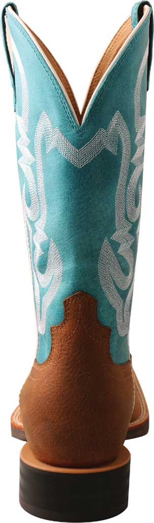 """Men's Twisted X MHY0032 12"""" Hooey Cowboy Boot, Gingerbread/Turquoise Full Grain Leather, large, image 4"""