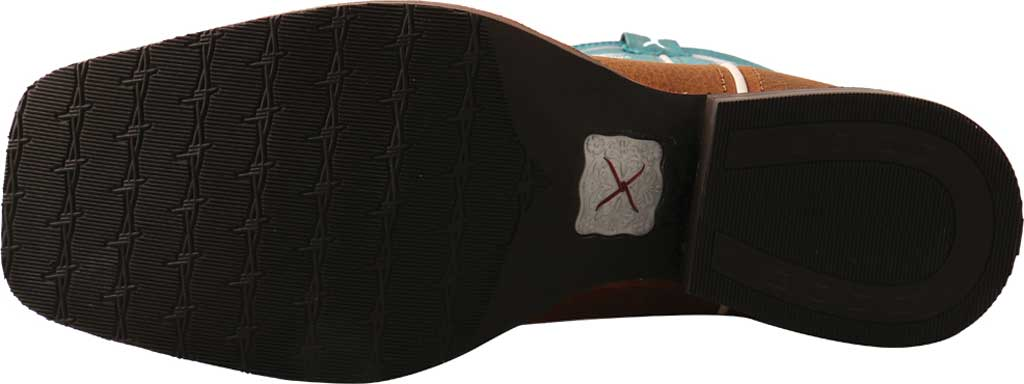"""Men's Twisted X MHY0032 12"""" Hooey Cowboy Boot, Gingerbread/Turquoise Full Grain Leather, large, image 5"""