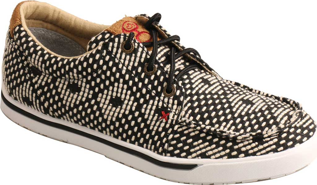 Women's Twisted X WHYC017 Hooey Loper Sneaker, Black/White Fabric, large, image 1
