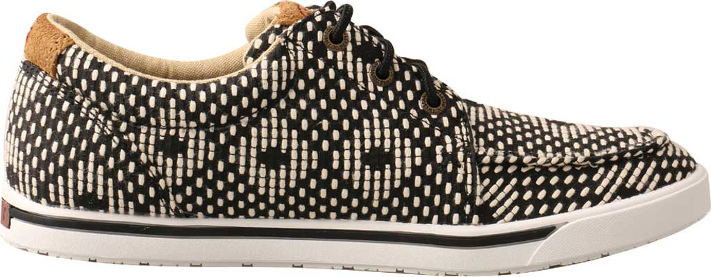 Women's Twisted X WHYC017 Hooey Loper Sneaker, Black/White Fabric, large, image 2