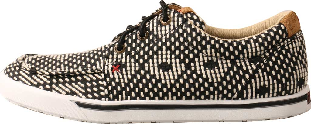 Women's Twisted X WHYC017 Hooey Loper Sneaker, Black/White Fabric, large, image 3
