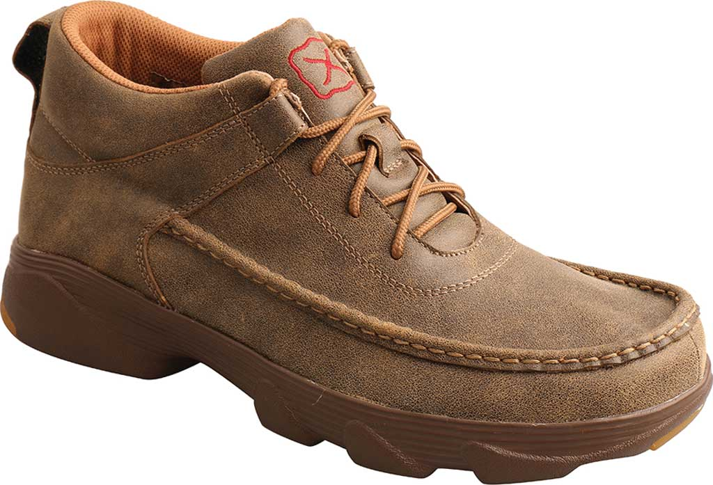 """Men's Twisted X MIE0002 4"""" Crossover Moc Toe Boot, Bomber/Bomber Full Grain Leather, large, image 1"""