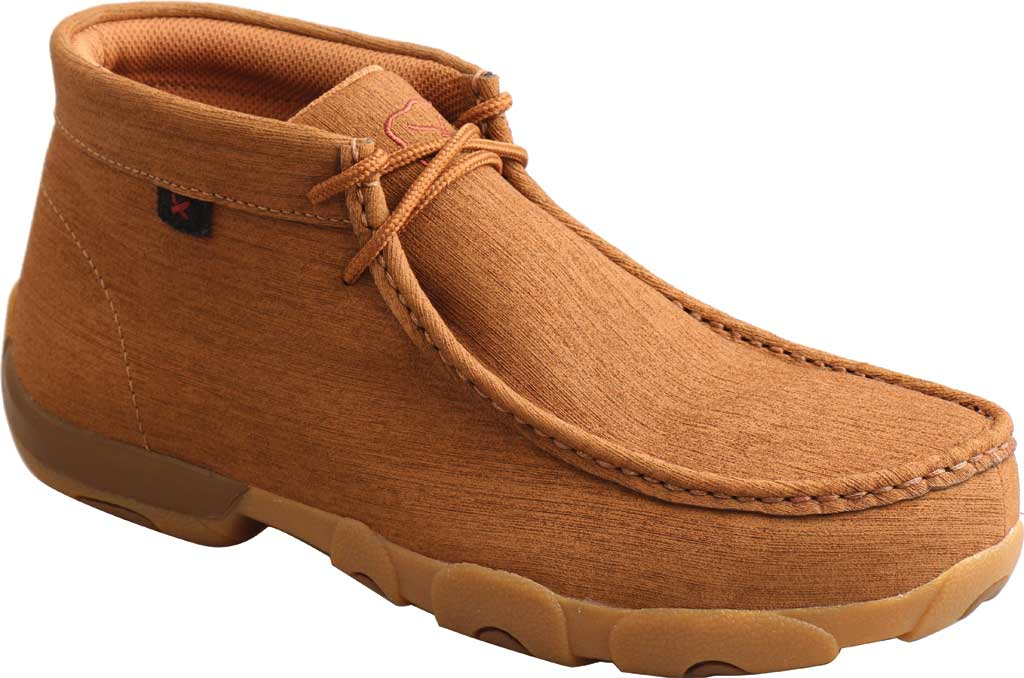 Men's Twisted X MDMST06 Work Chukka Steel Toe Driving Moc, Clay/Clay Hybrid Performance Leather, large, image 1