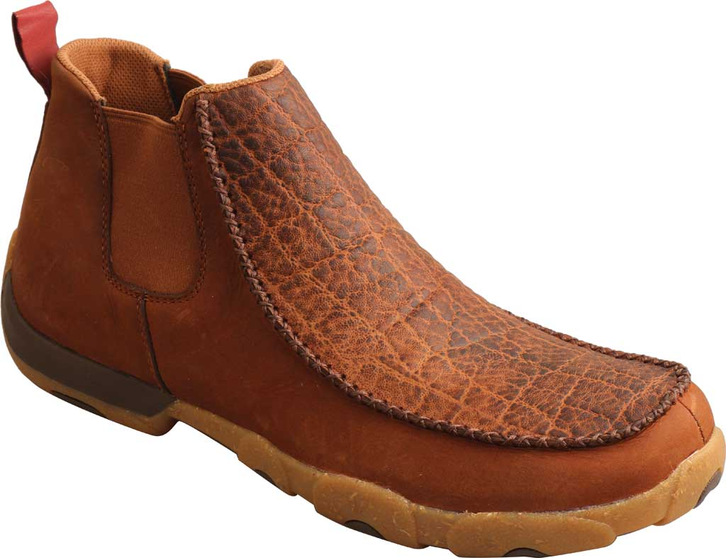 """Men's Twisted X MDMG004 4"""" Chelsea Driving Moc, Tan/Spice Full Grain Leather, large, image 1"""