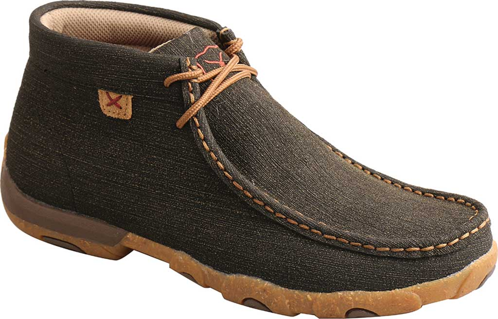 Women's Twisted X WDM0144 Chukka Driving Moc, Charcoal/Brown Hybrid Performance Leather, large, image 1