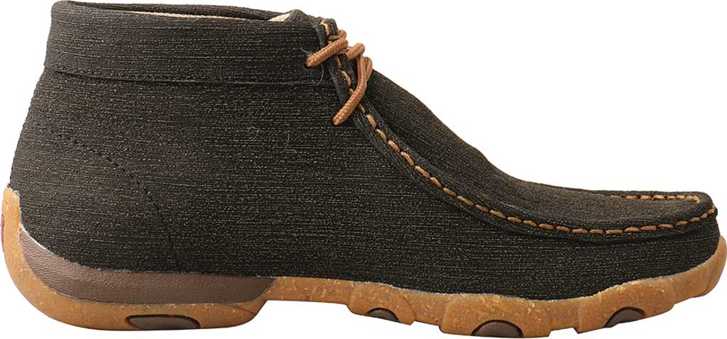 Women's Twisted X WDM0144 Chukka Driving Moc, Charcoal/Brown Hybrid Performance Leather, large, image 2