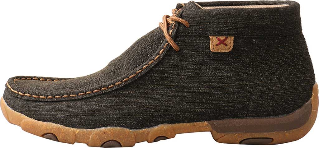 Women's Twisted X WDM0144 Chukka Driving Moc, Charcoal/Brown Hybrid Performance Leather, large, image 3