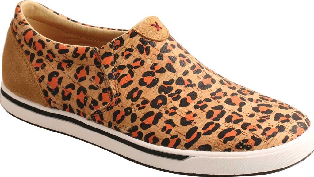 Women's Twisted X WCA0033 Slip On Kicks Sneaker, Honey/Black/Carrot Eco Cork, large, image 1