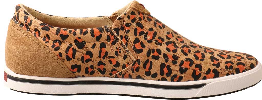 Women's Twisted X WCA0033 Slip On Kicks Sneaker, Honey/Black/Carrot Eco Cork, large, image 2