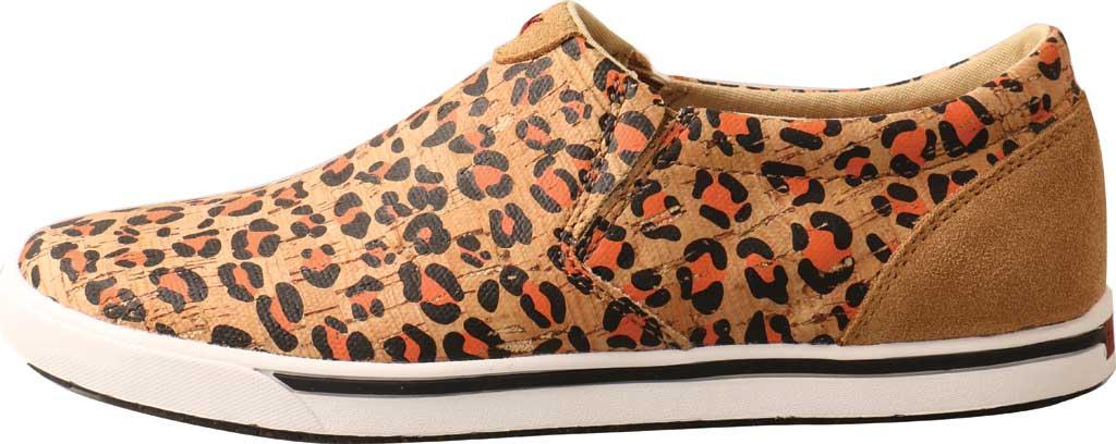 Women's Twisted X WCA0033 Slip On Kicks Sneaker, Honey/Black/Carrot Eco Cork, large, image 3