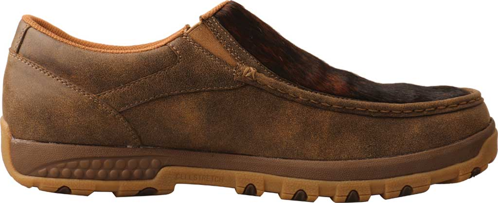 Men's Twisted X MXC0009 Slip On Driving Moc, Bomber/Brindle Full Grain Leather, large, image 2