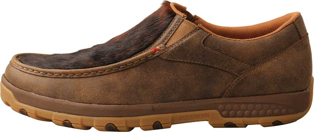 Men's Twisted X MXC0009 Slip On Driving Moc, Bomber/Brindle Full Grain Leather, large, image 3