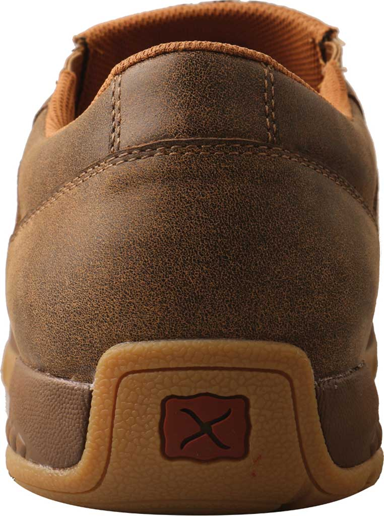Men's Twisted X MXC0009 Slip On Driving Moc, Bomber/Brindle Full Grain Leather, large, image 4