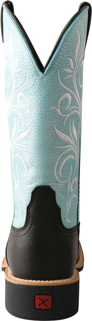 """Women's Twisted X WTH0019 11"""" Top Hand Cowgirl Boot, Black/Baby Blue Full Grain Leather, large, image 4"""