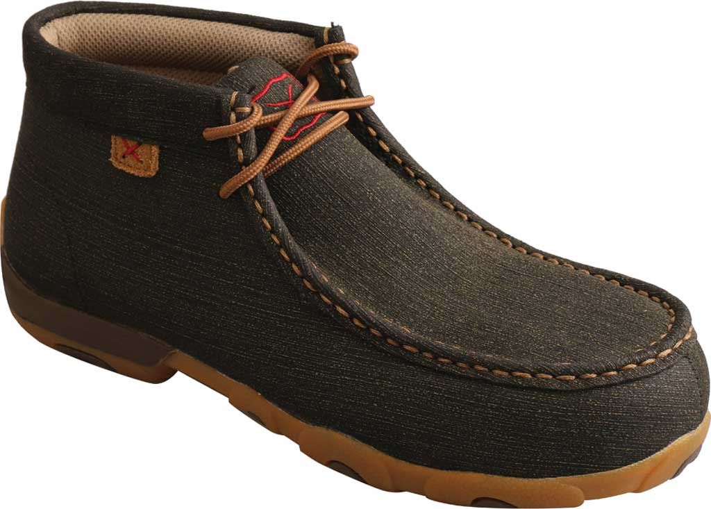 Women's Twisted X WDMAL02 Work Chukka Alloy Toe Driving Moc, Charcoal/Brown Hybrid Performance Leather, large, image 1