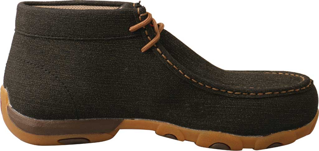 Women's Twisted X WDMAL02 Work Chukka Alloy Toe Driving Moc, Charcoal/Brown Hybrid Performance Leather, large, image 2