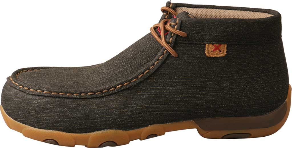 Women's Twisted X WDMAL02 Work Chukka Alloy Toe Driving Moc, Charcoal/Brown Hybrid Performance Leather, large, image 3