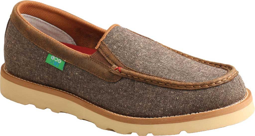 Men's Twisted X MCA0035 Moc Toe Slip On, Dust Eco Tweed/Full Grain Leather, large, image 1